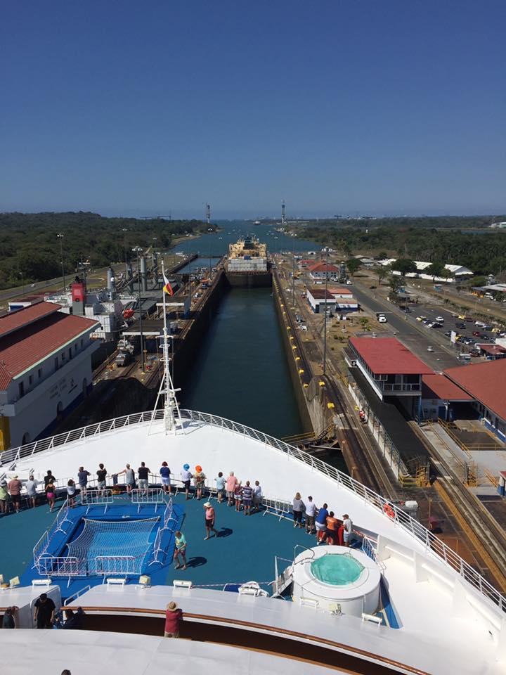 Oceana transiting the Panama Canal