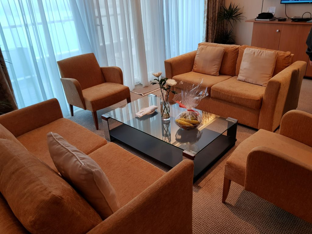 Owner's suite lounge