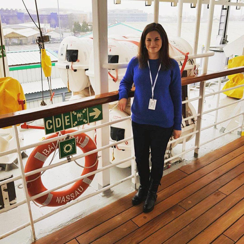 Me on board Balmoral