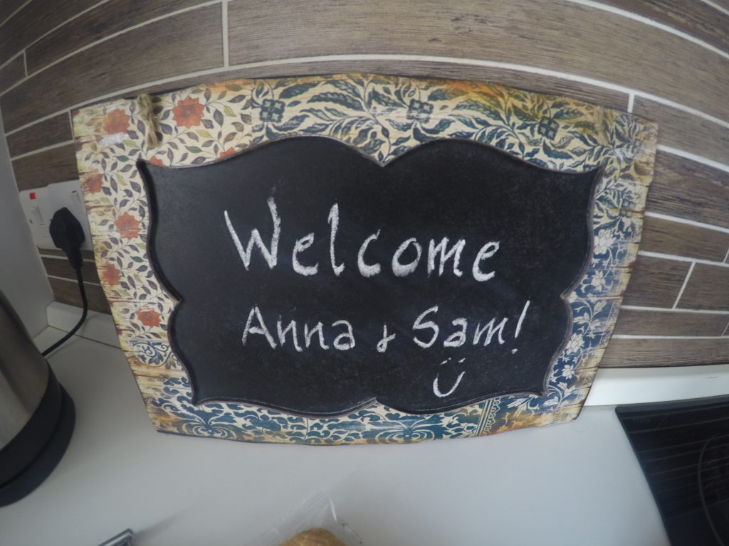 Our welcome