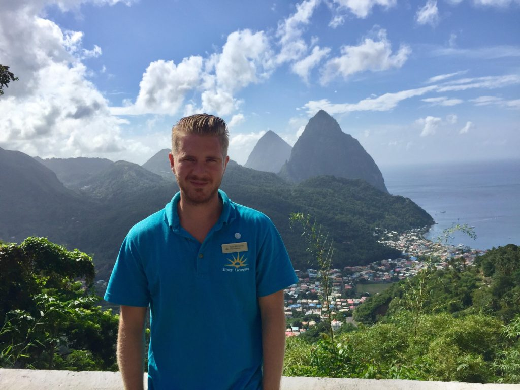 Sam Whiteside in St Lucia