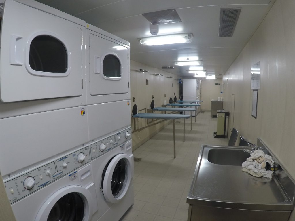 Launderettes can be very useful on a longer cruise