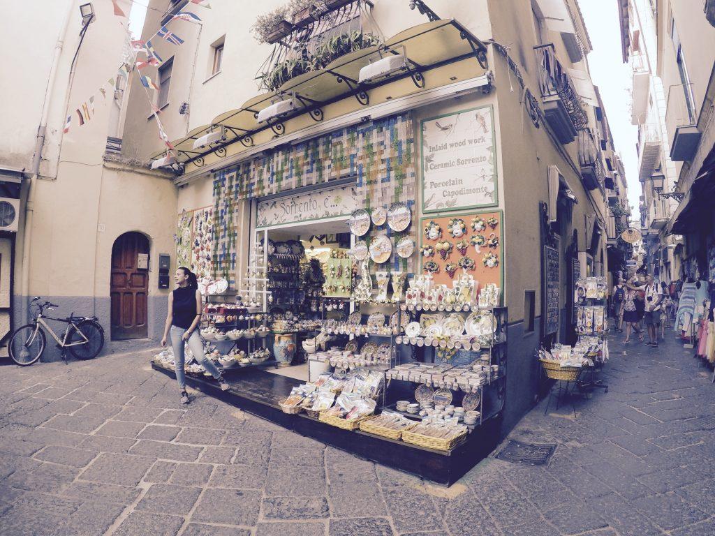 A souvenir shop in Sorrento