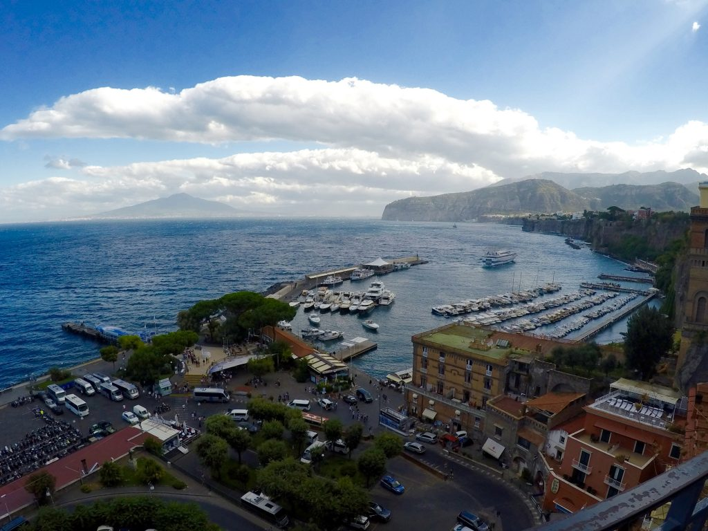 View from the top of Sorrento
