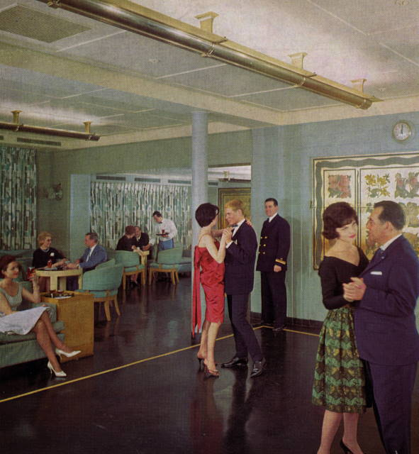 Dancing on board the SS America
