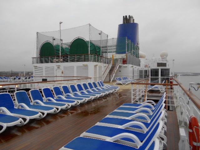 Arcadia's outdoor passenger deck