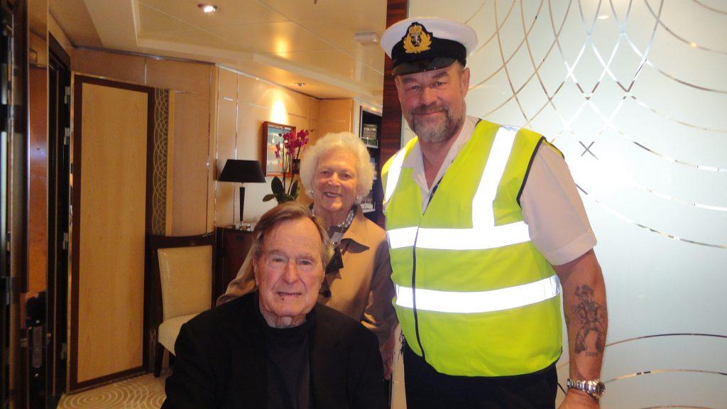 Glenn with President Bush Snr