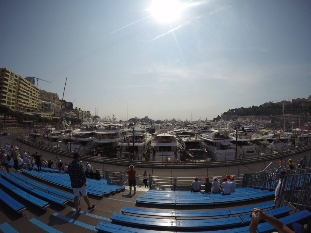 The view from our seats at the Grand Prix