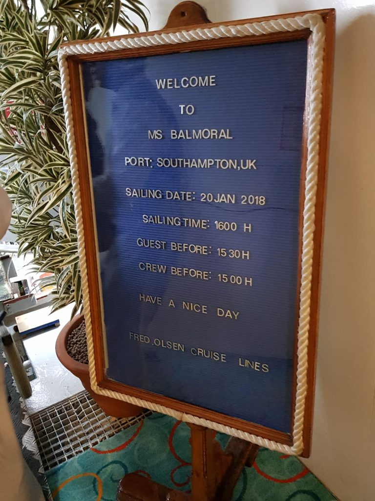 Balmoral set sail on a short weekend cruise