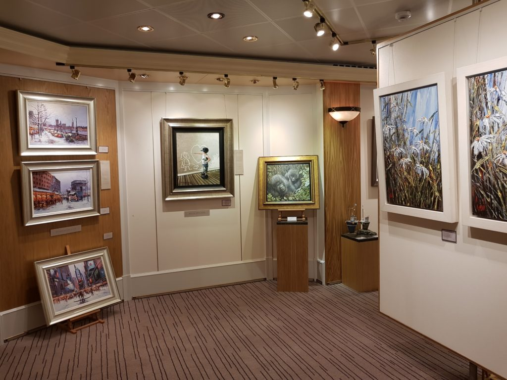 The art gallery was added during refit