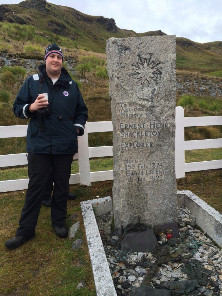 Toasting Shackleton in South Georgia