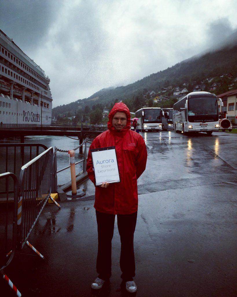 Sam on a wet day on Aurora