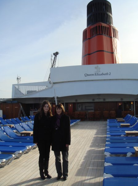 With my Mum on QE2