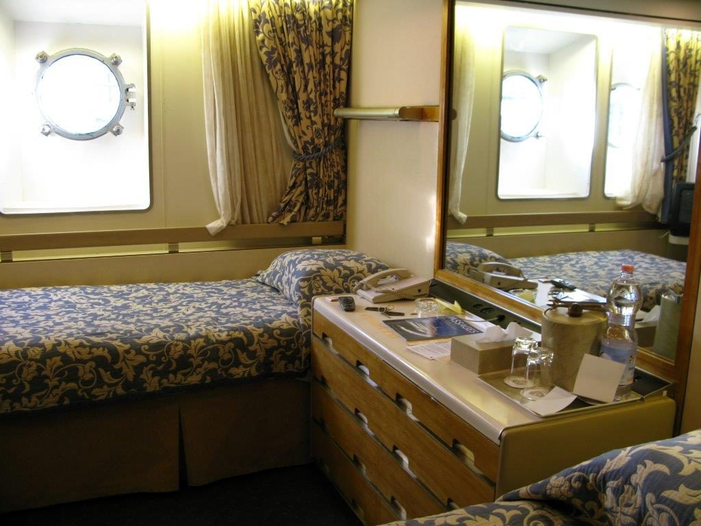Our Coronia stateroom on QE2