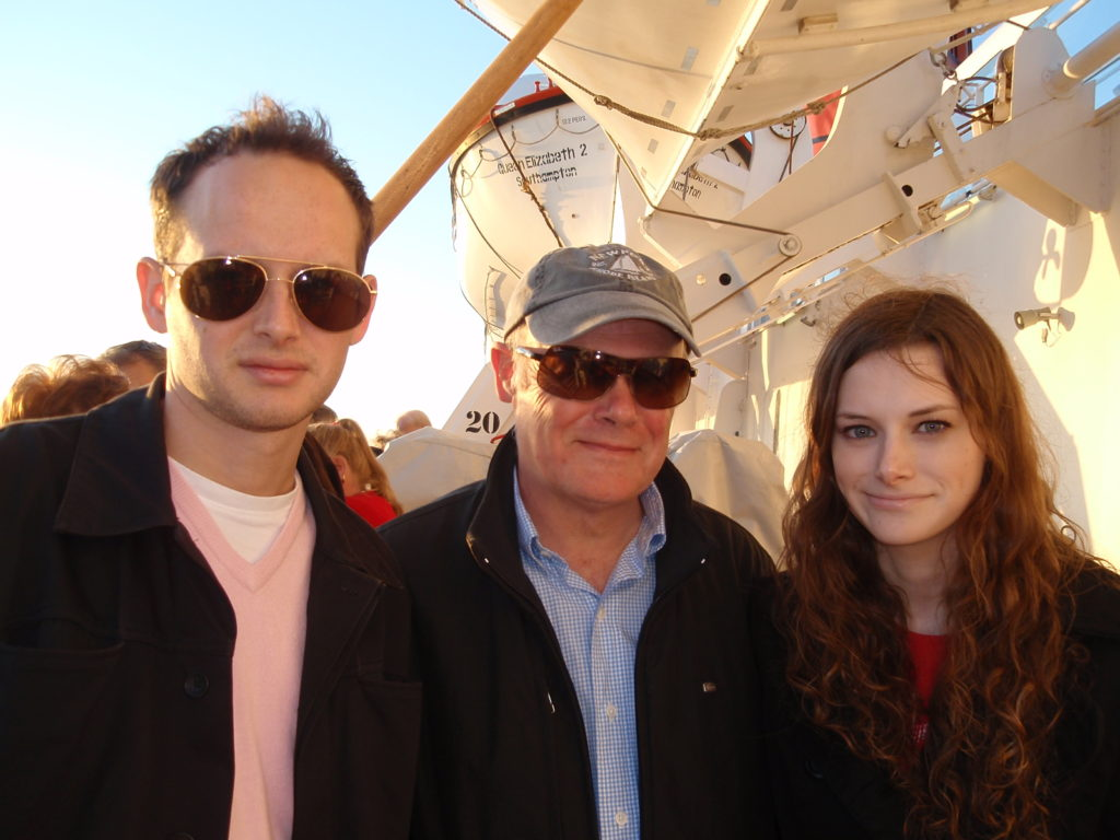 With Dad and my brother on board