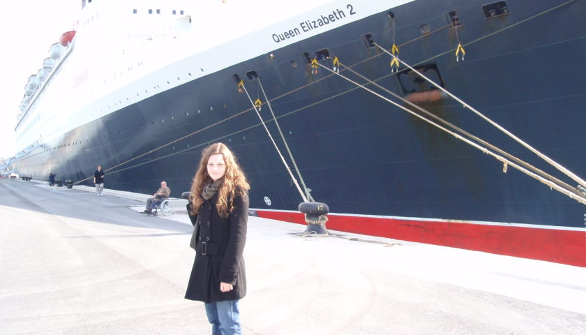 Me with the QE2