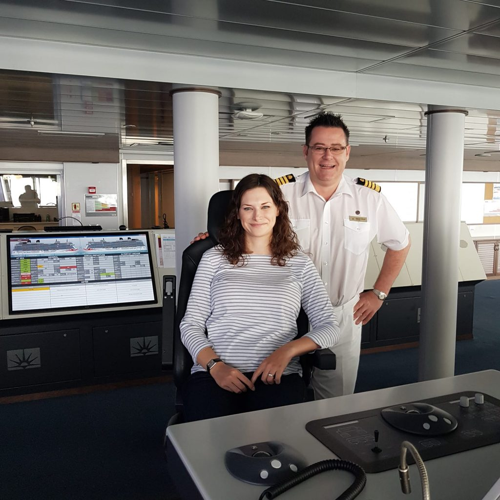 On the bridge with Captain Wesley Dunlop