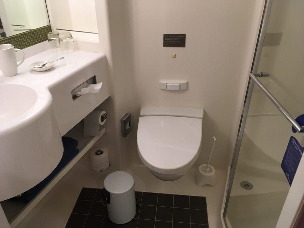 Inside cabin bathroom