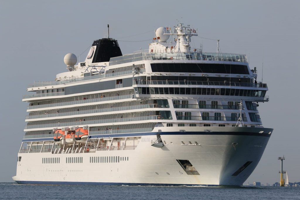Viking Star arriving in Portsmouth. Both this photo and the cover photo were taken by Andrew McAlpine