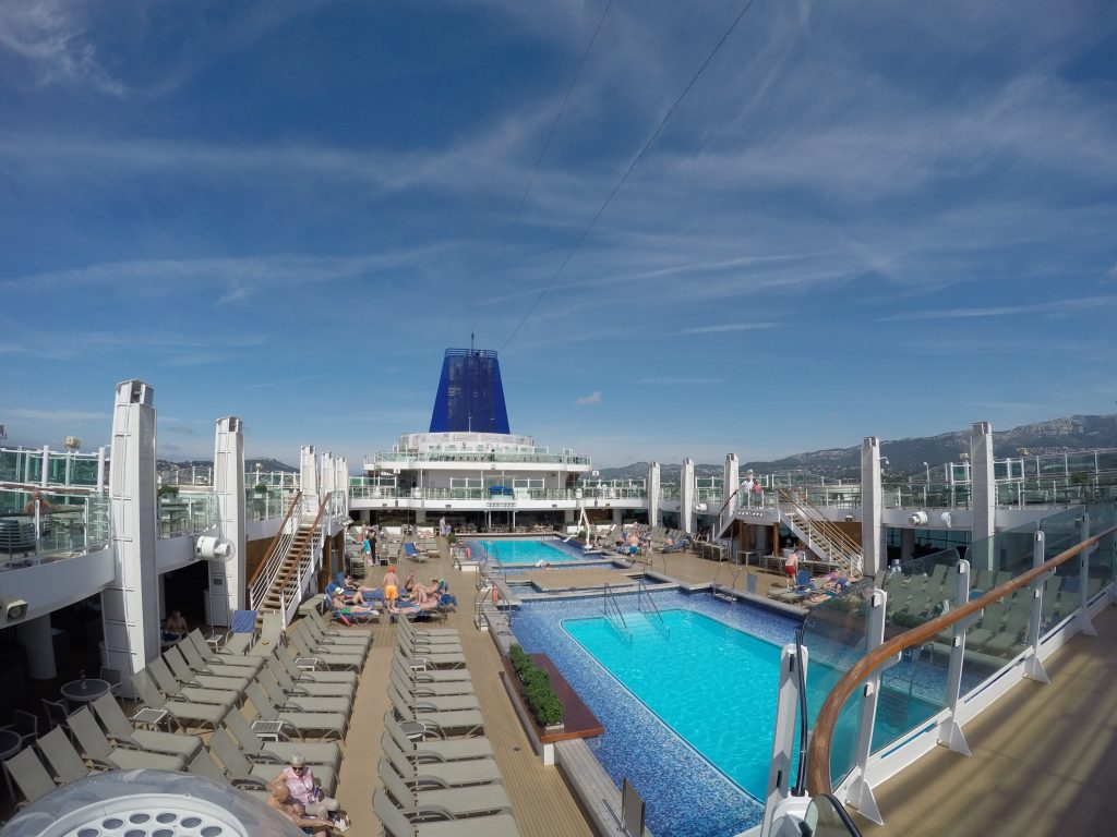 The two main swimming pools