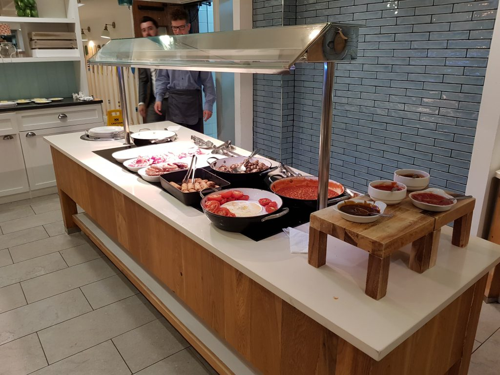 Hot breakfast buffet