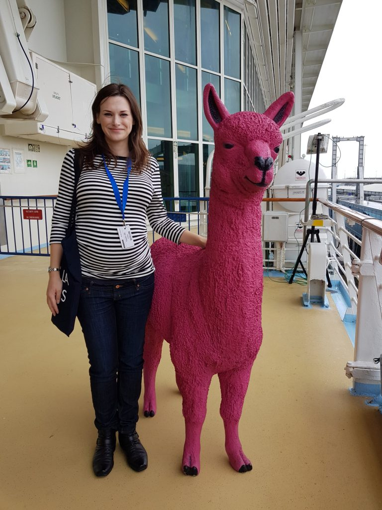 Me with Melissa the llama