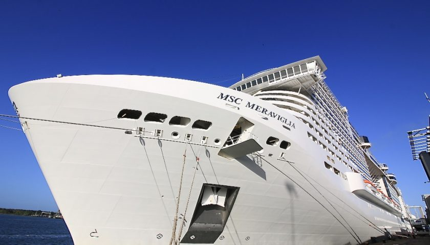 MSC Meraviglia in Southampton. Photo credit: Andrew McAlpine