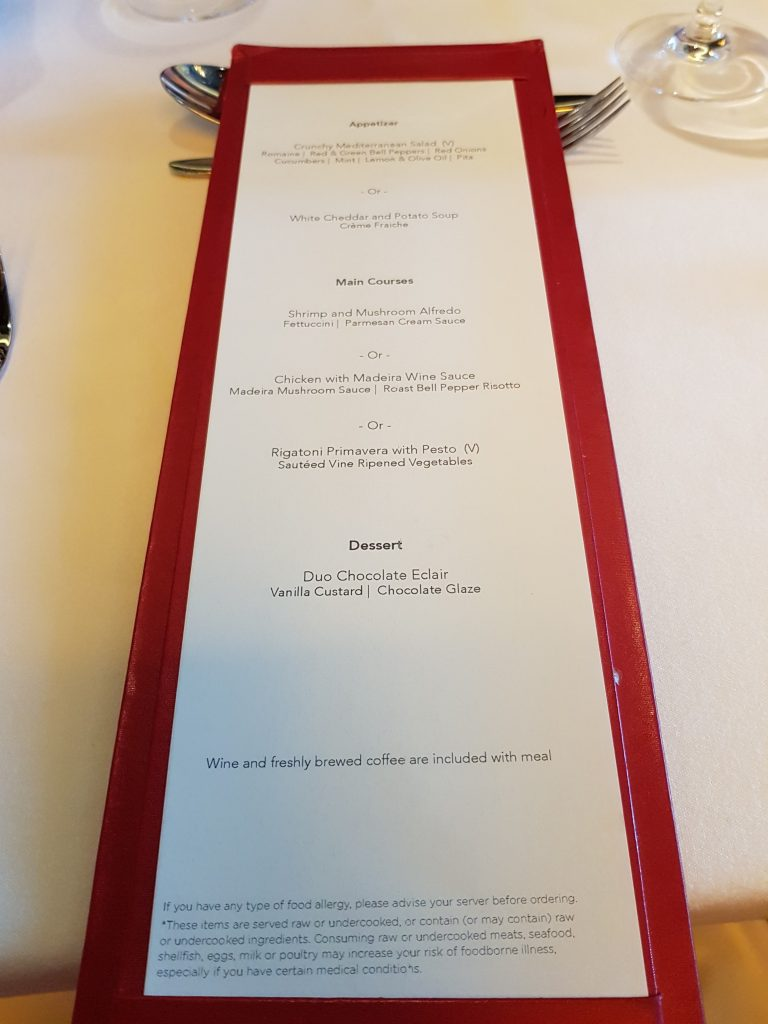 Lunch menu in Taste