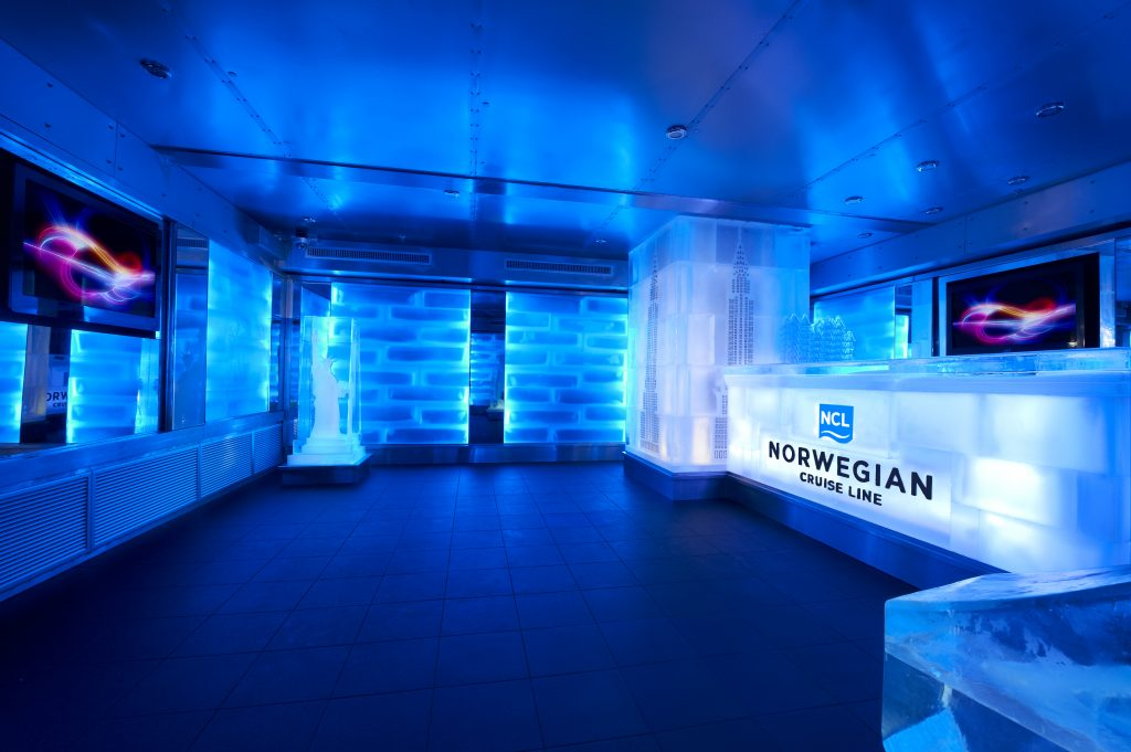 Skyy Ice Bar. Photo: Norwegian Cruise Line