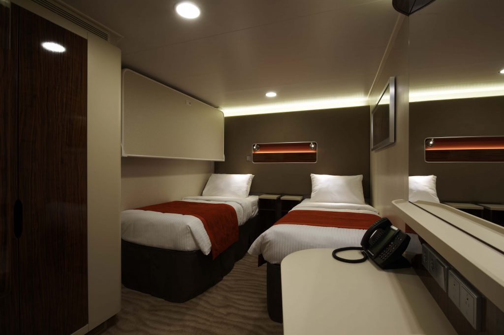 Inside stateroom. Photo: Norwegian Cruise Line