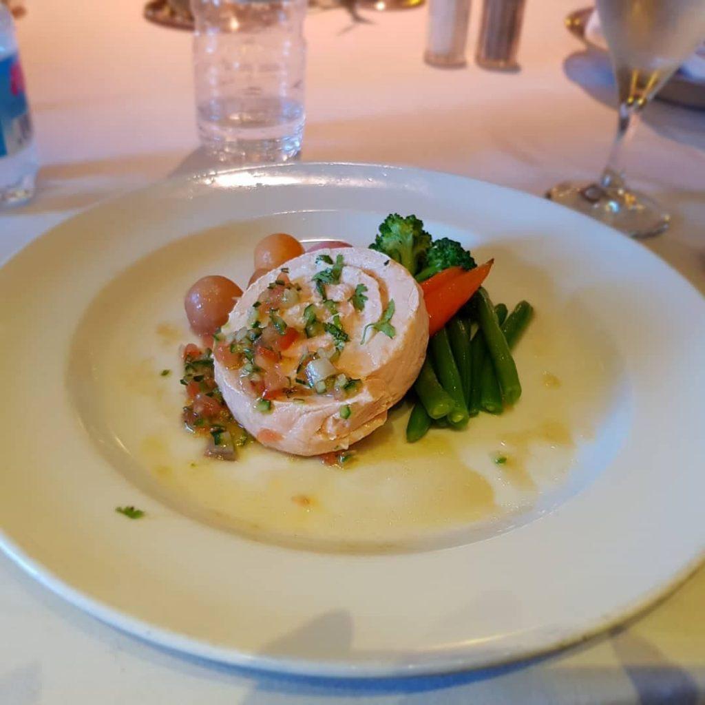My salmon main course