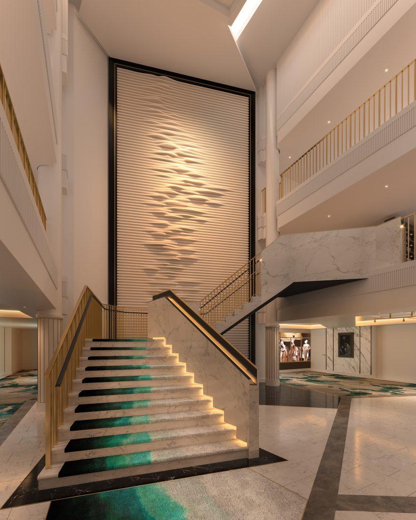 Foyer. Photo: Saga Cruises
