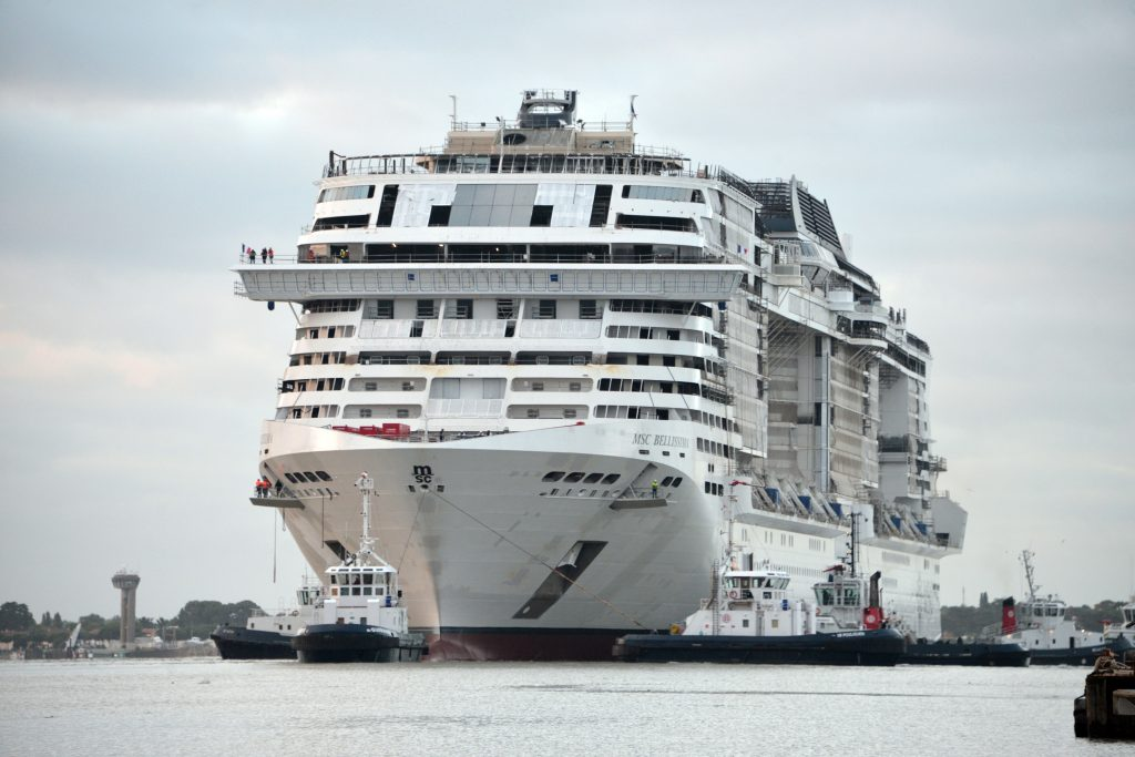 MSC Bellissima float out. Photo: MSC Cruises
