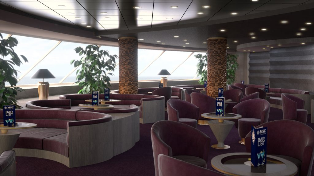 MSC Yacht Club Top Sail Lounge. Photo: MSC Cruises