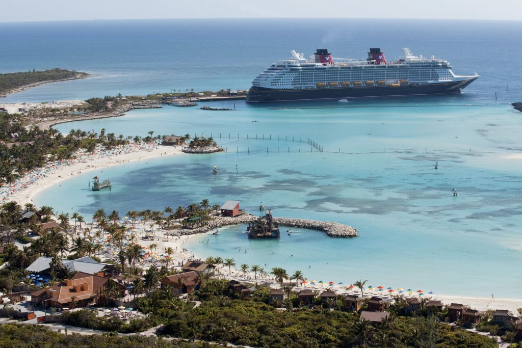 Disney Dream at Castaway Cay. Image: Disney Cruise Line