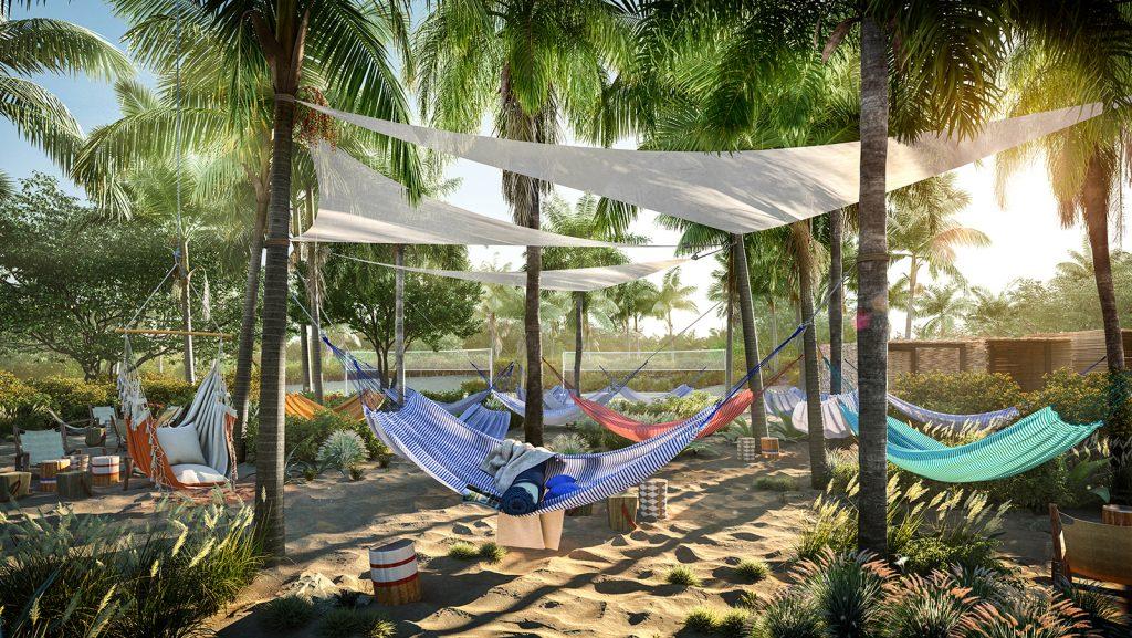 The Beach Club at Bimini. Image: Virgin Voyages