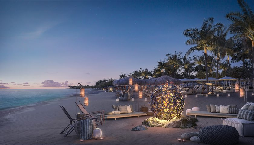 The Beach Club at Bimini. Image: Virgin Voyages