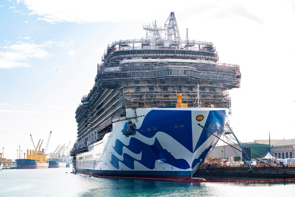 Sky Princess in the shipyard. Photo: Princess Cruises