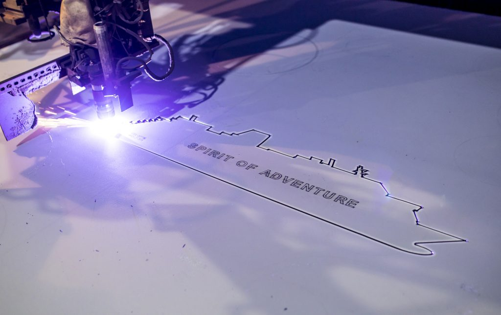 Steel cutting. Image: Saga Cruises