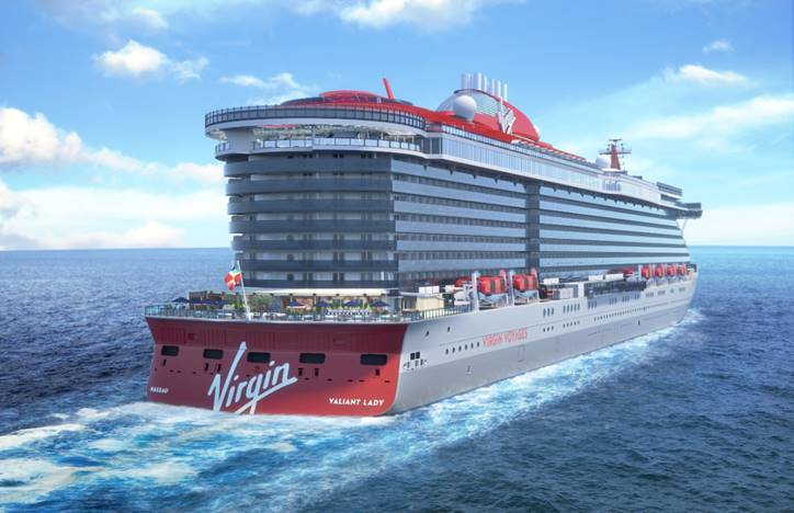 Valiant Lady. Image: Virgin Voyages