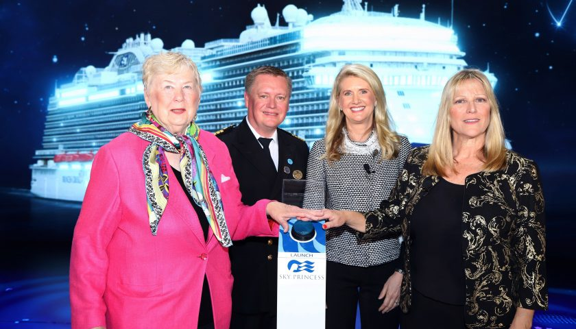Sky Princess naming ceremony. Image: Princess Cruises