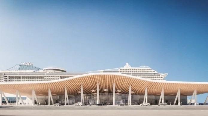 New cruise terminal. Image: ABP