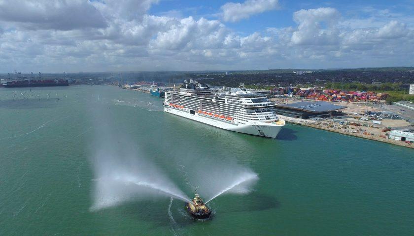 MSC Virtuosa arrives into Southampton MSC Cruises, Blue Harbour (1) Image: MSC Cruises